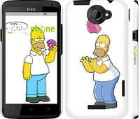 """Чехол на HTC One X Симпсоны, Гомер с яблоком """"937c-42"""""""