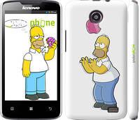 """Чехол на Lenovo A820 Симпсоны, Гомер с яблоком """"937c-68"""""""