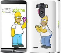 """Чехол на LG G3 dual D856 Симпсоны, Гомер с яблоком """"937c-56"""""""
