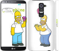 """Чехол на LG G2 Симпсоны, Гомер с яблоком """"937c-37"""""""