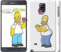 "Чехол на Samsung Galaxy Note 4 N910H Симпсоны, Гомер с яблоком ""937c-64"""
