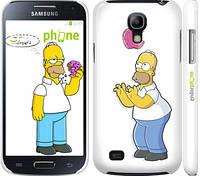"""Чехол на Samsung Galaxy S4 mini Симпсоны, Гомер с яблоком """"937c-32"""""""