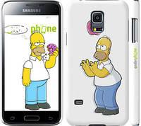 """Чехол на Samsung Galaxy S5 mini G800H Симпсоны, Гомер с яблоком """"937c-44"""""""