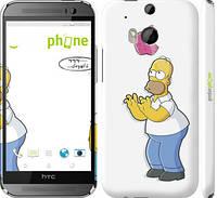 """Чехол на HTC One M8 dual sim Симпсоны, Гомер с яблоком """"937c-55"""""""