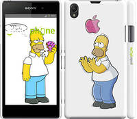"""Чехол на Sony Xperia Z1 C6902 Симпсоны, Гомер с яблоком """"937c-38"""""""