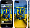 "Чехол на iPhone 5 Флаг и герб Украины 1 ""375c-18"""