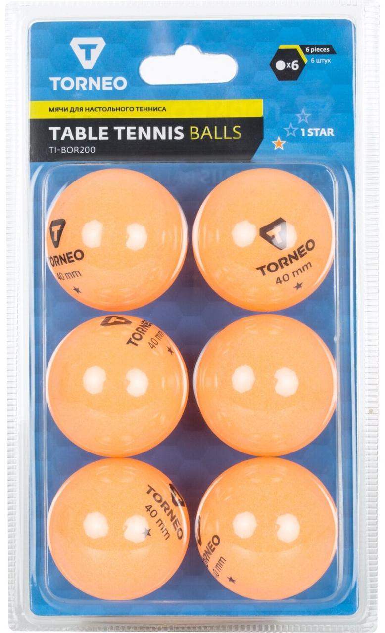 Мячи для настольного тенниса Torneo, 6 шт., Оранжевый