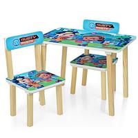 Столик детский с двумя стульчиками 501-50 деревянный,Rusty Rivets.