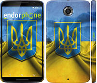 """Чехол на Motorola Nexus 6 Флаг и герб Украины 1 """"375c-67"""""""