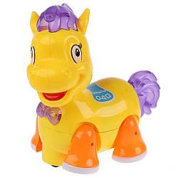 Музыкальная Лошадка 8359-1 игрушечный жеребенок световые эффекты