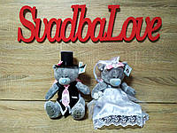 Украшение на свадебную машину Мишки Тэдди. Цена за пару.