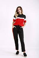 Алый практичный спортивный костюм из двухнитки | 01237-1 GARRY-STAR