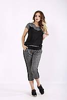 Черный спортивный костюм капри | 01238-1 GARRY-STAR