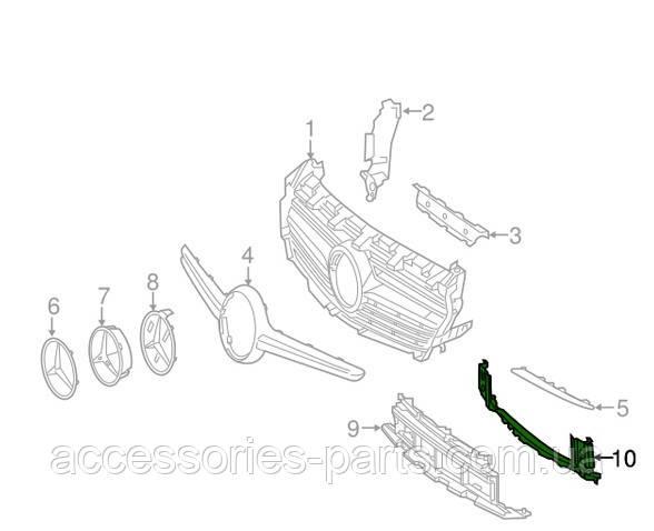 Решетка накладка переднего бампера Mercedes-Benz CLA W117 AMG Новая Оригинальная
