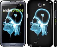"Чехол на Samsung Galaxy Note 2 N7100 Гомер. Томография ""652c-17"""