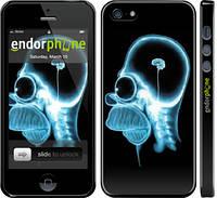 """Чехол на iPhone 5 Гомер. Томография """"652c-18"""""""