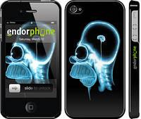 """Чехол на iPhone 4 Гомер. Томография """"652c-15"""""""