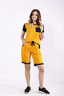 Летний оранжевый спортивный костюм с шортами | 01240-1 GARRY-STAR