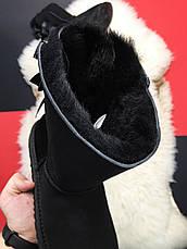 Угги женские UGG Bailey Bow 2 (черные) Top replic, фото 3