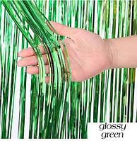 Шторка занавес из фольги для фото зон зелёная 1х2 метра