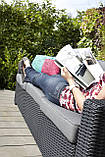 Набір садових меблів California 3-Seater Sofa Graphite ( графіт ) з штучного ротанга Allibert by Keter, фото 6
