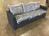 Набір садових меблів California 3-Seater Sofa Graphite ( графіт ) з штучного ротанга Allibert by Keter, фото 8