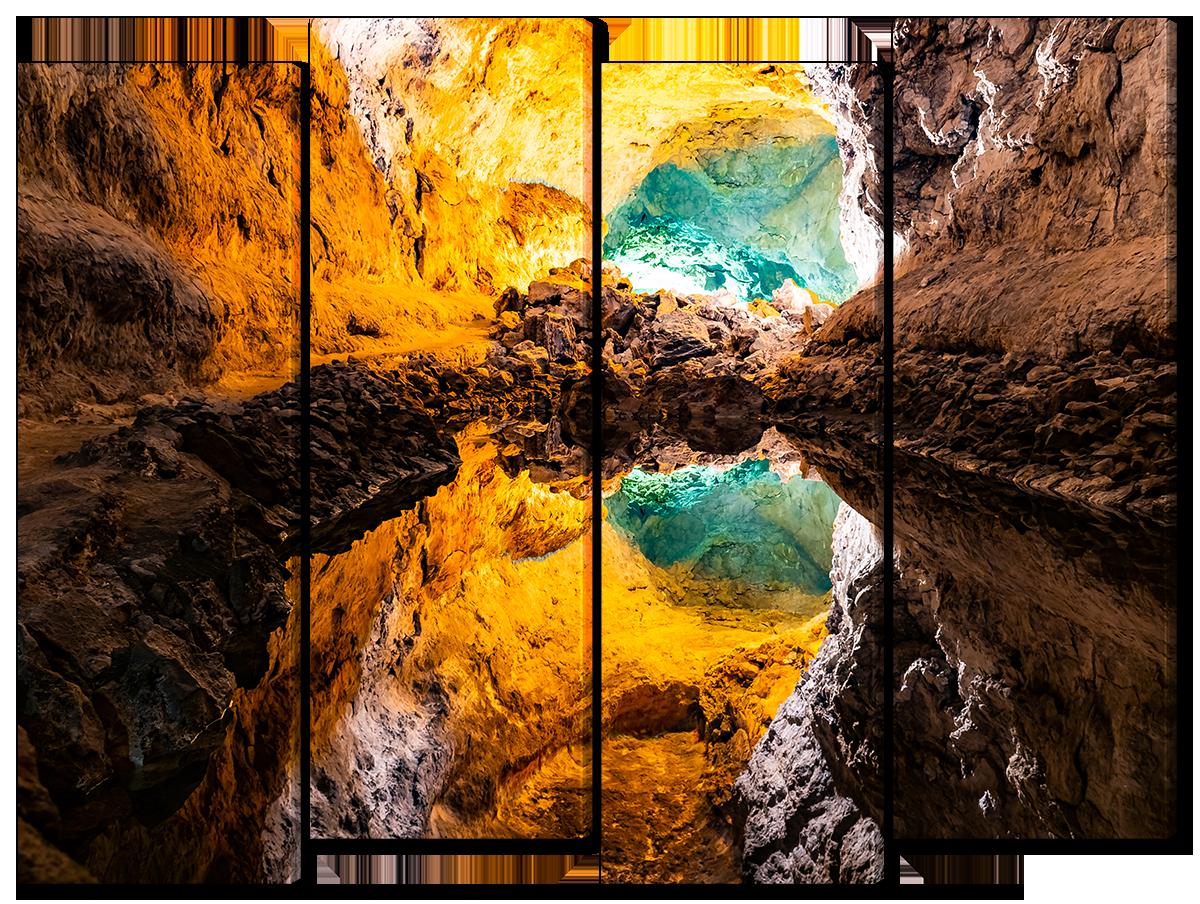Модульная картина Interno Холст Подземная река 124х94см (R3805L)