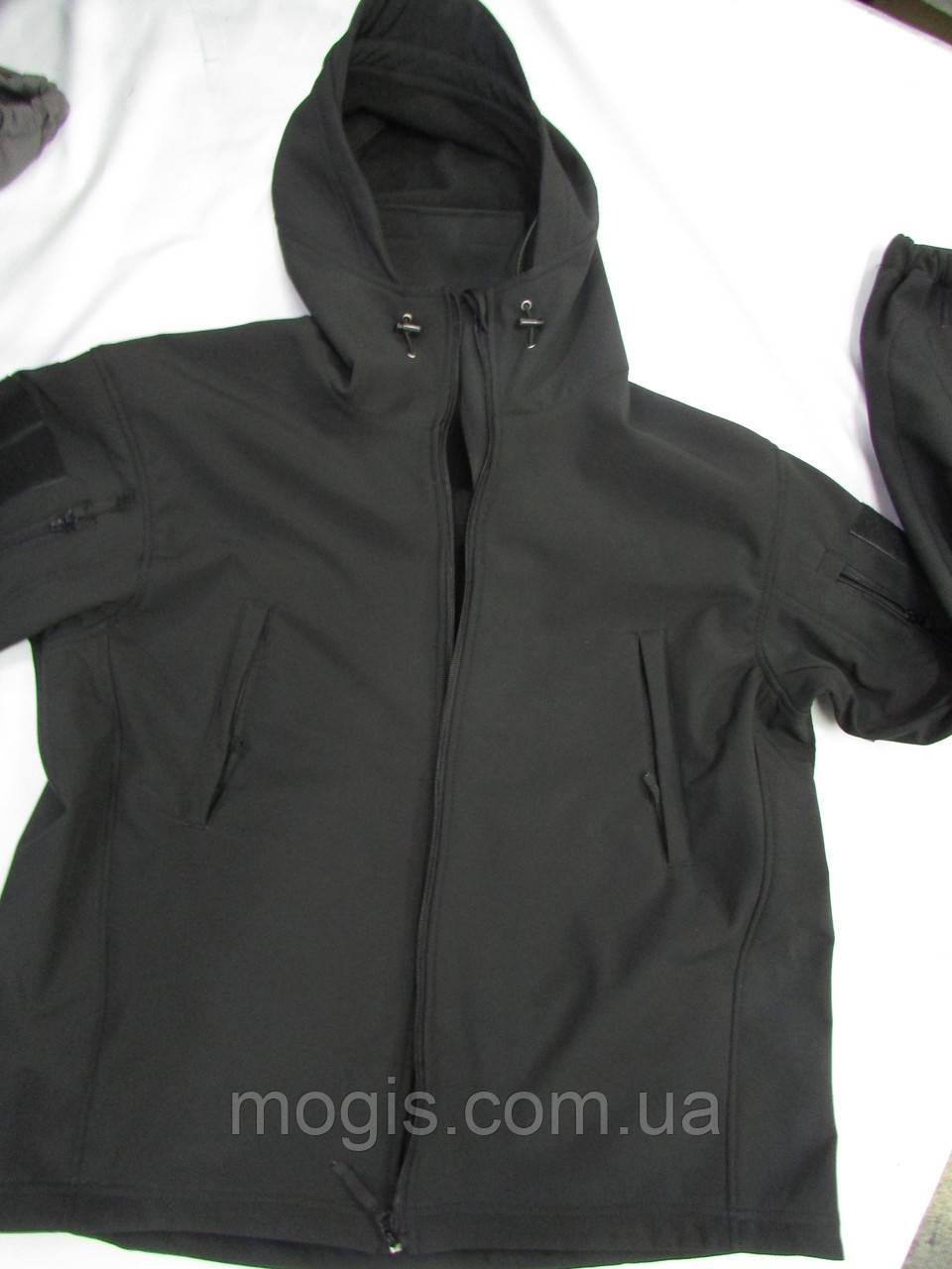 """Куртка Stratagem """"Milt - 13"""" с цельным капюшоном козырьком черная"""