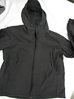 """Куртка Stratagem """"Milt - 13"""" с цельным капюшоном козырьком черная, фото 1"""