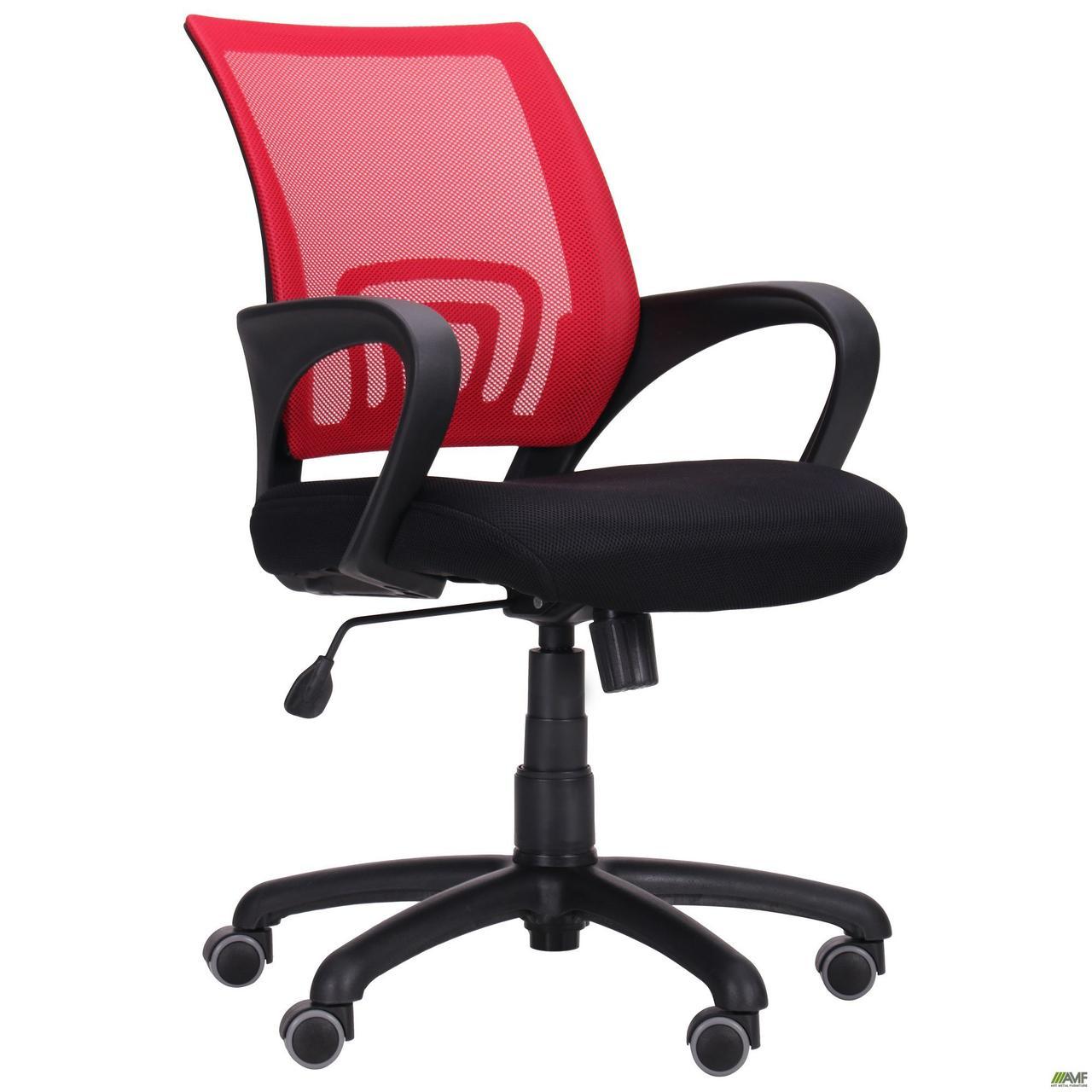 Кресло Веб сиденье Сетка черная/спинка Сетка красная TM AMF