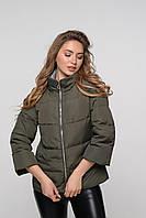 Куртка цвета хаки с четверным рукавом
