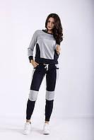 Серый с синим спортивный костюм | 01251-1 GARRY-STAR