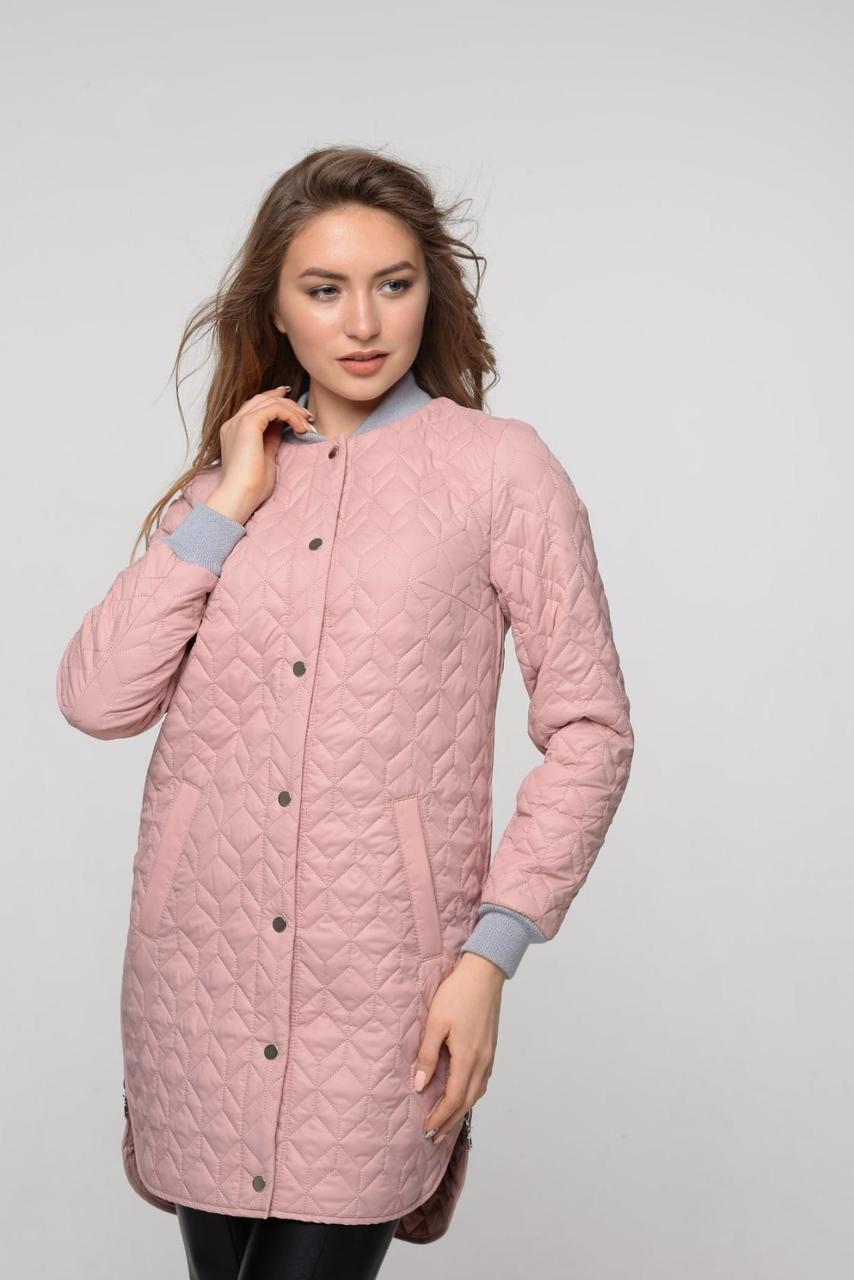 Оригинальная пудровая женская курточка