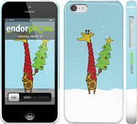 """Чехол на iPhone 5c Жираф и ёлка """"1265c-23"""""""