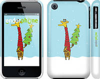 """Чехол на iPhone 3Gs Жираф и ёлка """"1265c-34"""""""