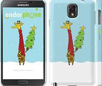 "Чехол на Samsung Galaxy Note 3 N9000 Жираф и ёлка ""1265c-29"""