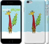 """Чехол на iPhone 6 Plus Жираф и ёлка """"1265c-48"""""""