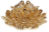 Декоративное блюдо 20см, цвет - золотой