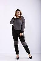 Темно-серый спортивный костюм из двухнитки | 01251-3 GARRY-STAR