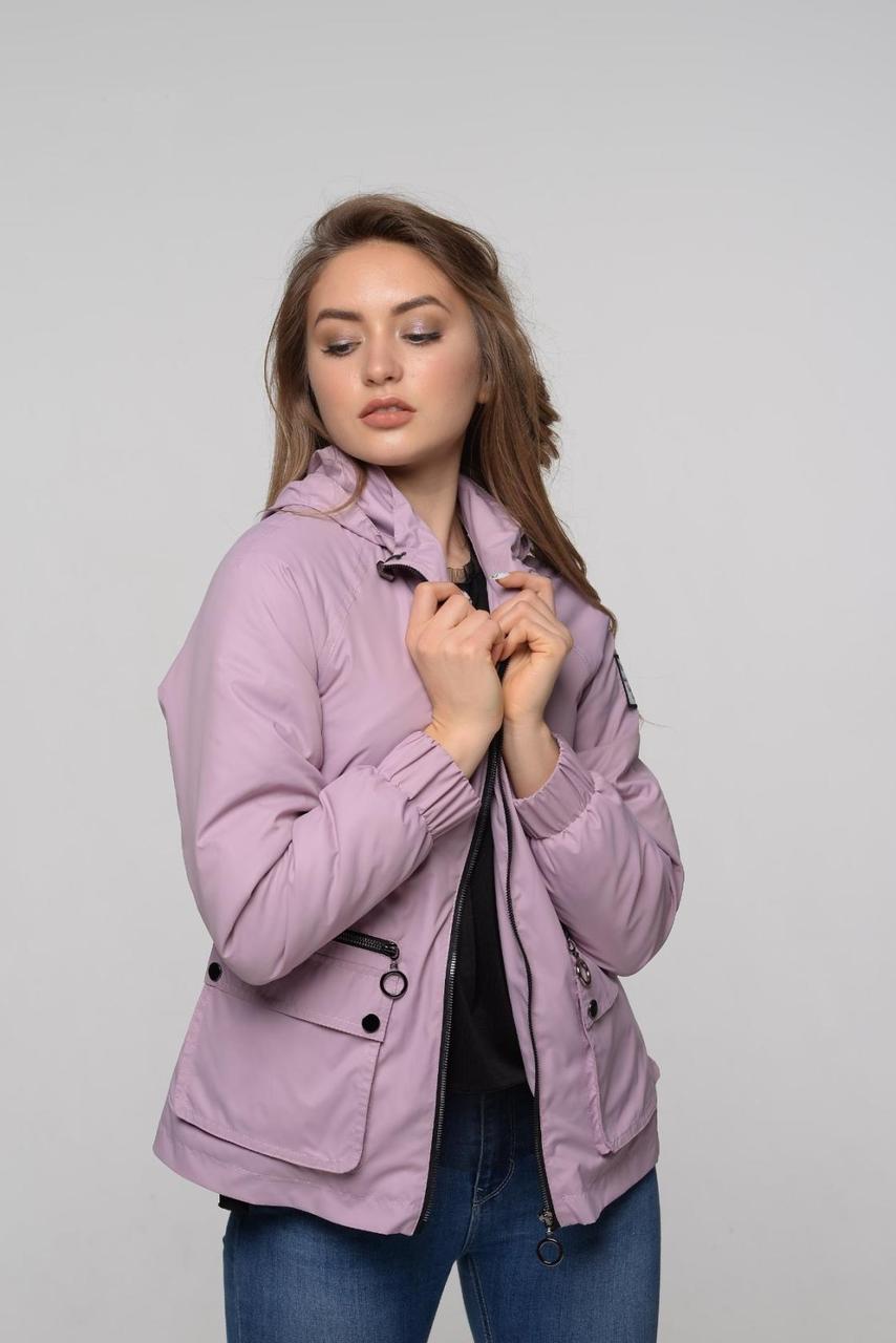 Женская ветровка с карманами