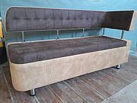 Кухонный диван «Тorino R» с боковой спинкой и утяжкой