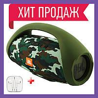 Портативная Bluetooth колонка JBL BoomBox Бумбокс беспроводная колонка, USB, павербанк, FM радио , камуляж
