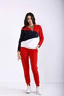 Красный практичный костюм | 01253-1 GARRY-STAR