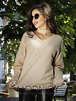 Женская модная кофта  НИ3617 (норма / бат), фото 1