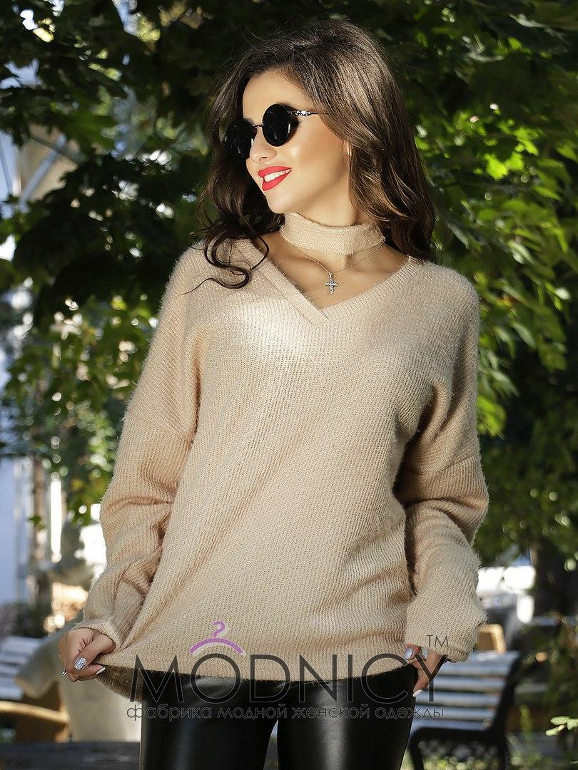 Женская модная кофта  НИ3617 (норма / бат)