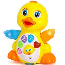 Музыкальный Утёнок 808 детская развивающая желтая уточка