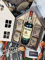 Подарочный деревянный домик. Новогодний подарок шефу, боссу, директору, папе, брату, мужу