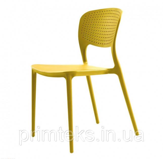 Стілець пластиковий Spark (Спарк)жовтий каррі