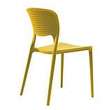 Стілець пластиковий Spark (Спарк)жовтий каррі, фото 2