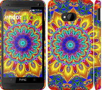 "Чехол на HTC One M7 Калейдоскоп ""1804c-36"""